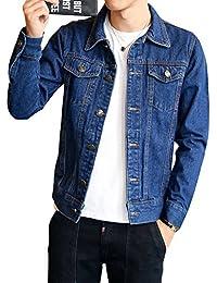 Uomo Giacca Di Jeans Vintage Classica Giubbotto Denim Giacca Panciotto  Sottile de52ff98e40