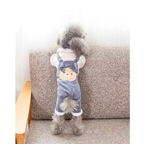�tzchen Hundebekleidung Teddybär Xiong Bomei kleine Hundewelpen streicheln Herbst und Winter Dicke warme Kleidung (Color : D, Size : XS) ()