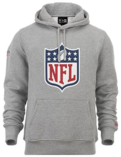 "New Era ""NFL Logo\"" Hoodie - heather grey - L"