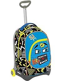Preisvergleich für Seven S.P.A. Trolley Jack Junior–SJ Smilies–Blau Gelb Schwarz–28Lt abnehmbar und waschbar–Schule und...