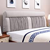 uus Tissu de coussin de chevet moderne en couleur solide Tissu Tête de lit en coton...