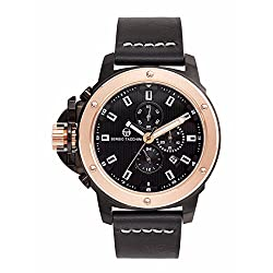 Sergio Tacchini ST.2.104.01 Leather Strap Chronograph Watch for Men