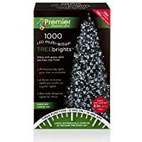 Premier Decorations 1000 LED Multi Action Christmas Tree Brights White