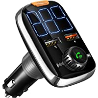 Goodstuffshop Car FM Transmitter, FM Bluetooth Car Music Wireless Radio Adapter, Dual-USB Charger Output, Hands-Free Calling, U-Disk/TF Card/AUX MP3 Player Car Kit