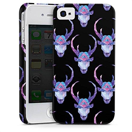 Apple iPhone X Silikon Hülle Case Schutzhülle Space Deer Reh Muster Premium Case glänzend
