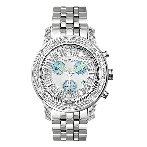 Joe Rodeo Diamond orologio da uomo - 2000 Silver 1.5 Ctw