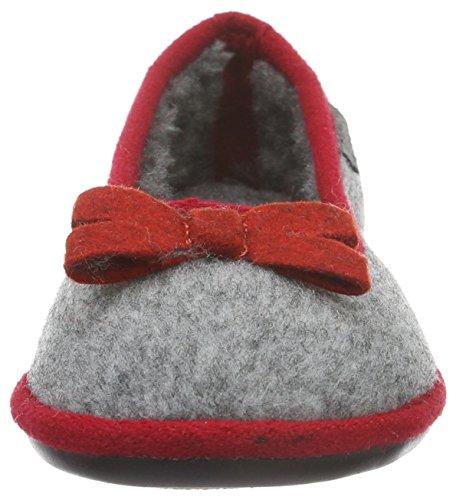 Tamaris Damen 22194 Geschlossene Ballerinas Grau (Grey/Red 251)