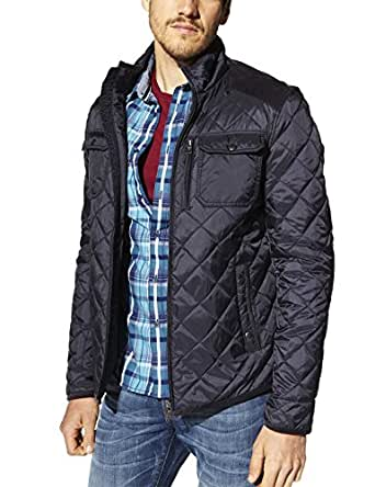 celio blouson manches longues homme bleu marine small taille fabricant s amazon. Black Bedroom Furniture Sets. Home Design Ideas