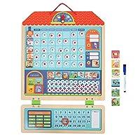 Famus Wooden Children Magnetic Toy Responsibility Chart Target Reward Activity Recording Board
