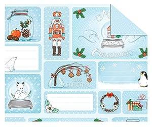 Ursus 11504601Cartulina Invierno Navidad, Multicolor
