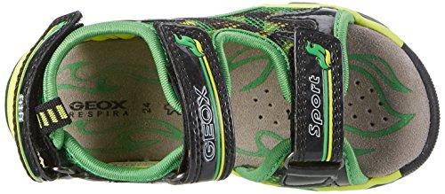 Geox Android A, Sandales Bout Ouvert Garçon Vert (Green/Limec0790)