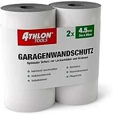 Athlon Tools Premium Garagenwandschutz | je 2 m lang | Extra Dicker Auto Türkantenschoner | Selbstklebend | Wasserabweisend | 2er Set