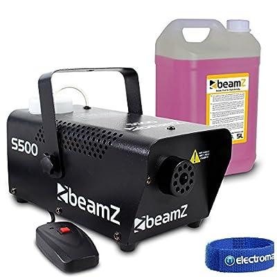 Beamz s-500 Watt Remote Control Smoke Machine with 5 litre High Quality Fluid
