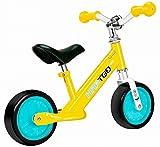 HAPTOO Bicicleta Infantil de Equilibrio sin Pedales con Sillín Regulable para Niños de 2-5 Años(Ultraligero:Aleación De Aluminio),7 Pulgadas (amarillo)