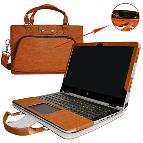 Pavilion x360 13 Case,2 in 1 Accurately Designed Protective PU Leather Cover + Portable Carrying Bag For 13.3