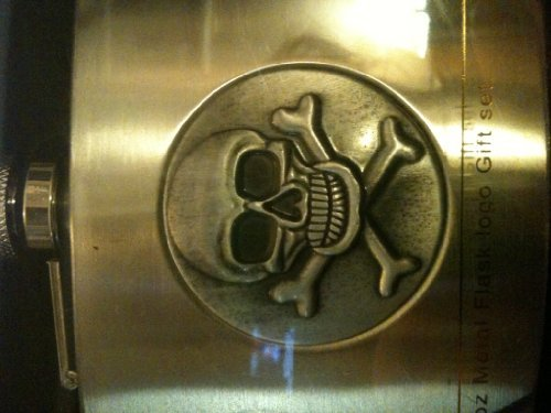 5oz-metal-flask-with-raised-skull-and-crossbones-logo-by-family-dollar-store