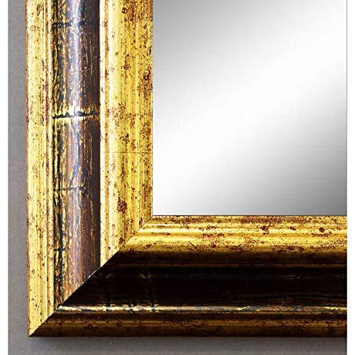 Online Galerie Bingold Wandspiegel Spiegel Badspiegel - Bari 4,2 - Gold mit Rot - 60 x 140 - Außenmaß inkl. Massivholz-Rahmen - viele Größen verfügbar - Modern, Barock, Antik, Vintage