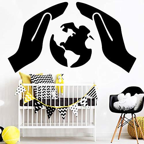 f54c81f33 Linda protección de la Tierra Pegatinas de Pared Accesorios de decoración  del hogar Sala de niños DIY decoración del hogar Etiqueta de la Pared ...
