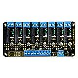 KEYESTUDIO 8 Kanal Solid State Relais für Pic AVR DSP Arm Relaismodul Effektive High-Level AC240V / 2A Ausgang für Arduino