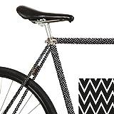 MOOXI-Bike Fahrrad-Folie Ziggy Zac (ausreichend für Teilbereiche)
