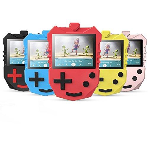 8 GB MP3 Player für Kinder, tragbarer 1,8 TFT Farbbildschirm Musik-Player mit eingebautem Lautsprecher, Sprachaufnahme, unterstüzt bis zu 128 GB Speicherkarte, von AGPTEK K1, Rot