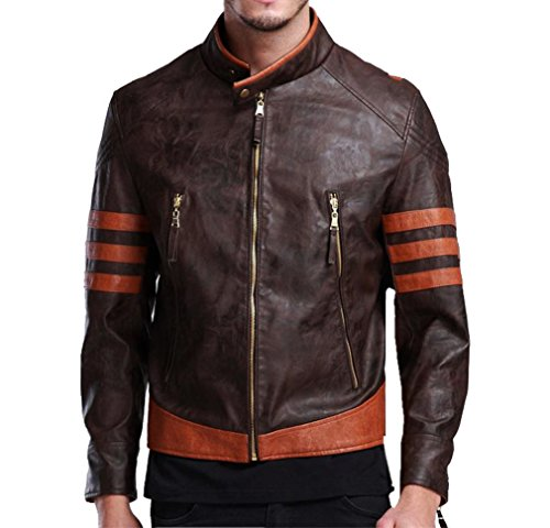 Herren Mode Leder Logan Jacke Kleidung Mantel High Quality Halloween Cosplay Costume