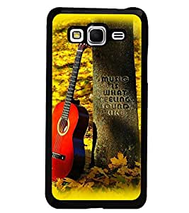 PrintDhaba Guitar D-2250 Back Case Cover for SAMSUNG GALAXY GRAND PRIME (Multi-Coloured)