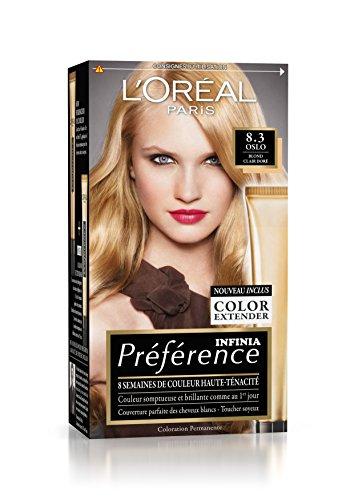 Préférence L'Oréal Paris Coloration Permanente 8.3 Blond Clair Doré