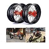 TARAZON Supermoto Radsatz Rad Felgen Wheels Radnabe Set 3,5x17 Vorderrad + 5,0x17 Hinterrad für KTM SX SXF EXC SXS 125-530 03-14