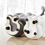 Purelifestyle, GYP005, 2-er Set Verliebte Elefanten Skulptur Tier Figur Deko Tischdeko Höhe 34 cm Weihnachtsgeschenk Valentinstag Geschenk Geburtstagsgeschenk Hochzeitsgeschenk Farbkontrast - 8