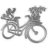 joyliveCY Lovely para bicicleta diseño de troqueles de corte de metal para boda tarjeta de papel Scrapbooking Making