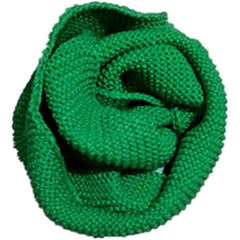 Inverno autunno caldo ispessimento maglia sciarpa per bambini , green