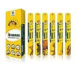 Chakra Serie dell'erba Premium fragranza bastoni - piacevole e tranquillo naturale Incenso - Premium Quality Aroma Sticks - 20 bastoncini per confezione - Confezione da 6 Stick profumato olio