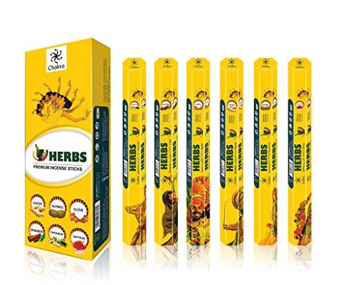 Aroma Herb (Herb Series Premium-Duft-Sticks - angenehme und friedliche Natural Räucherstäbchen - Premium Qualität Aroma Sticks - 20 Sticks pro Karton - Packung mit 6 Duftöl Sticks)