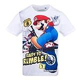 Unbekannt Super Mario Jungen T-Shirt - Weiß