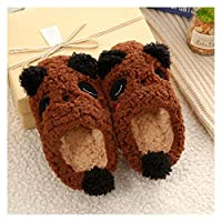 YUTJK Mens Slippers Memory Foam Slippers Coral Fleece Lining Non-Slip Indoor Outdoor Slippers,Cartoon Panda Children