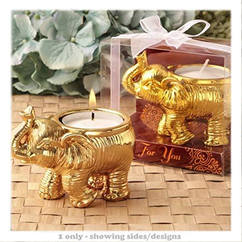 Diseño de buena suerte de elefante vela portavelas-1