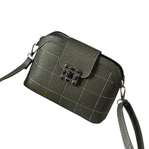 Yiwa Fashion Elegant Lady PU Leather Satchel Plum Blossom Plugging Buckle Haversack Shoulder Bag Handbag Daily Thing Holder
