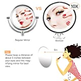 BESTOPE Magnification Countertop Cosmetic Makeup (White)