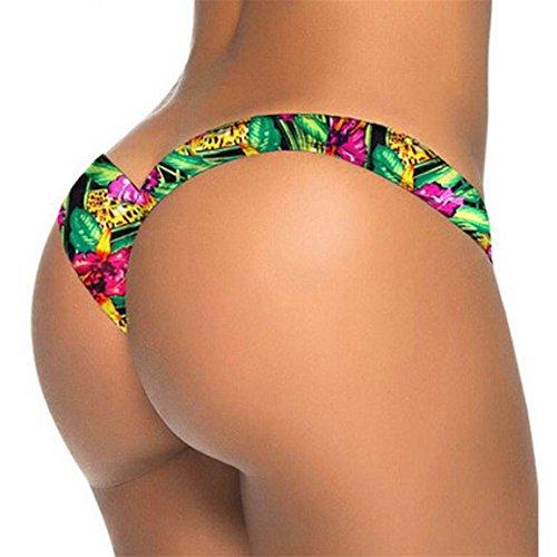 Moonuy,Frauen Bodysuit, brasilianische Bikini Bottom Thong Bade Beach Badeanzug Bademode, dünne tägliche tragen, Schwimmen Hosen, Schwimmen Hosen (B, EU 34 / Asien S) (Beach Belle Bademode)