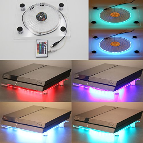 wowled-usb-rgb-led-pc-cooling-fan-pad-stand-with-ir-remote-wireless-controller-for-ps4-playstation