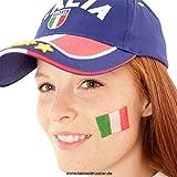 25er Italien Tattoo Fahnen Set - Italia flag - EM Fanartikel 2016 (25)