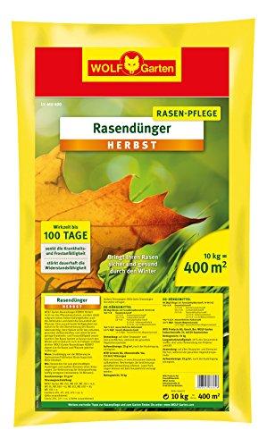 WOLF-Garten Rasen-Herbst-Dünger LK-MU 400; 3835040 (Rot Unkraut Hat)