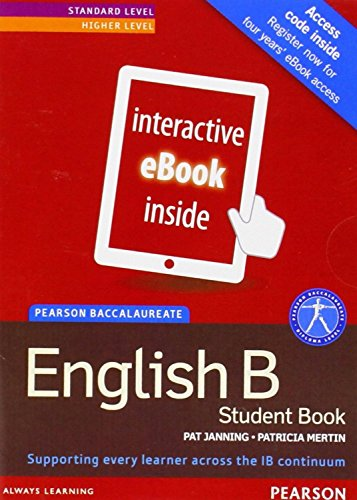 Pearson Baccalaureate English B print and ebook bundle for the IB Diploma (Pearson International Baccalaureate Diploma: International Editions)