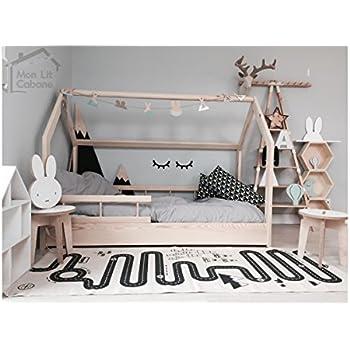 monlitcabane lit cabane h demie barri re 90x190 sommier cuisine maison. Black Bedroom Furniture Sets. Home Design Ideas