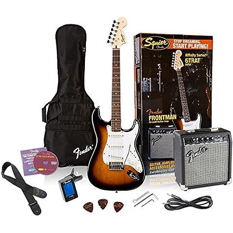Fender Squier Affinity Stratocaster Sunburst + Frontman 10