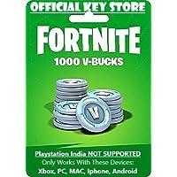 Fortnite 1000 V-Bucks Gift Card Code Only (NO CD/DVD)