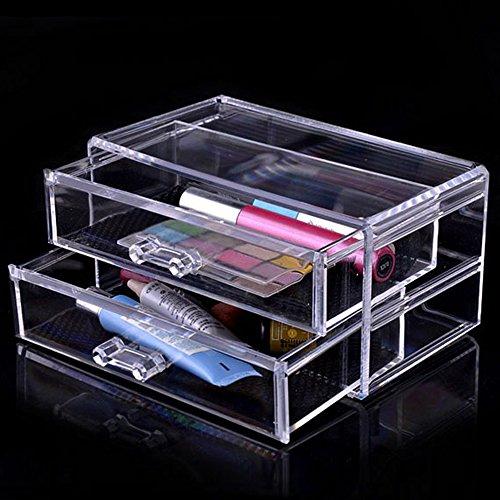 spritech (TM) Desktop Make-up-Organizer Kosmetik Organizer Schmuck und Kosmetik Aufbewahrung Display Boxen, style-14, Size:4.3