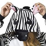 Katara 1744 - Zebra Kostüm-Anzug Onesie/Jumpsuit Einteiler Body für Erwachsene Damen Herren als Pyjama oder Schlafanzug Unisex - viele verschiedene Tiere -