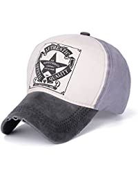 SUNNSEAN Gorras Gorra de Sol Hombres Mujeres Retro Star Béisbol Bola Gorra  Deportes al Aire Libre Sombreros Elástico Ajustable… 9026c1969eb